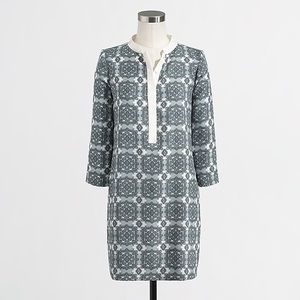 J. Crew Factory size 2 Printed Tipped Shirt Dress